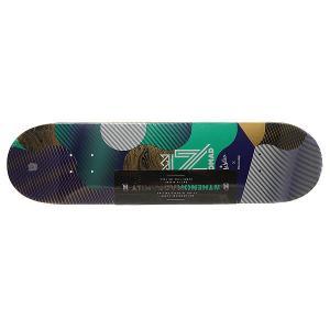 Дека для скейтборда  Resilio Blue Deck Multi 32 x 8.125 (20.6 см) Nomad. Цвет: мультиколор
