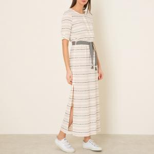 Платье длинное LALLA SESSUN. Цвет: экрю