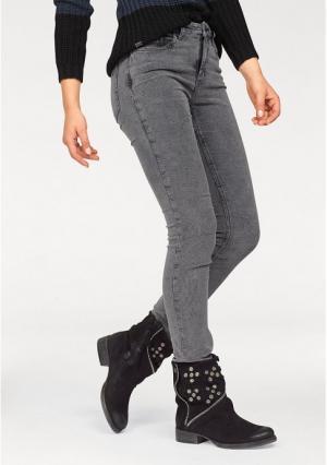 Вельветовые брюки Arizona. Цвет: серый потертый
