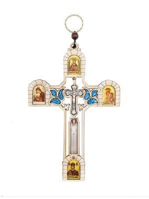 Крест со Святой Водой из Иордана Holy Land Collections. Цвет: бежевый
