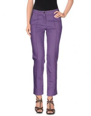 Джинсовые брюки COCCAPANI. Цвет: фиолетовый