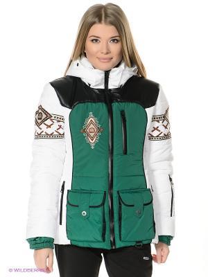 Куртка Sport Vision. Цвет: зеленый, серебристый