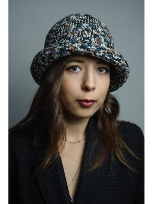 Шляпа Итальянская мозаика ТТ. Цвет: черный, бежевый, синий