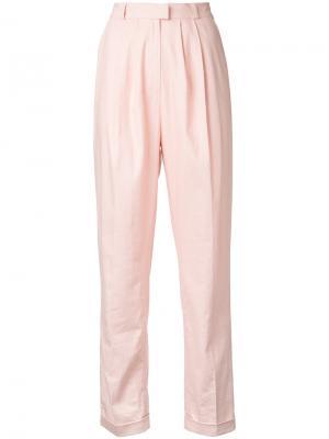 Классические брюки N Duo. Цвет: розовый и фиолетовый