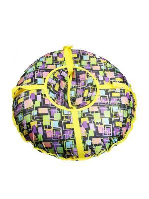 Санки надувные Ватрушка Метиз. Цвет: розовый, желтый
