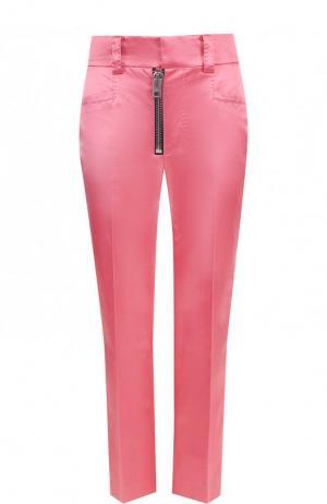 Укороченные брюки из смеси хлопка и вискозы со стрелками Coach. Цвет: розовый