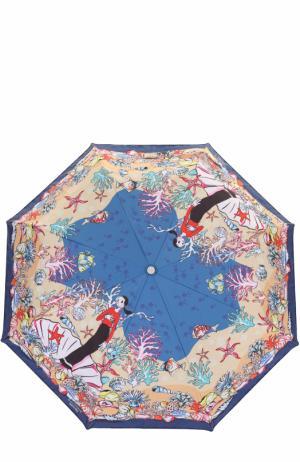 Складной зонт Moschino. Цвет: красный