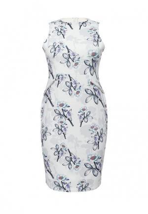 Платье LOST INK PLUS. Цвет: серый