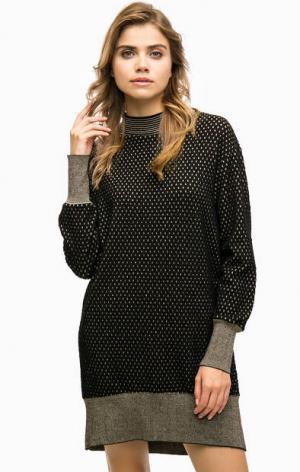 Короткое платье-свитер Pinko. Цвет: черный