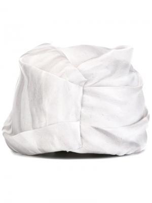Классический тюрбан Super Duper Hats. Цвет: серый
