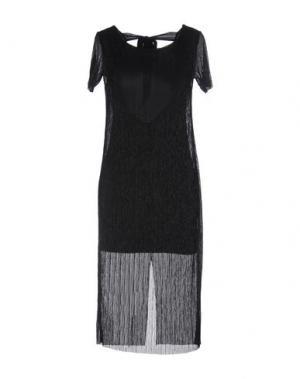Платье до колена YES ZEE by ESSENZA. Цвет: черный