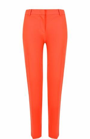 Укороченные брюки прямого кроя со стрелками Emilio Pucci. Цвет: красный