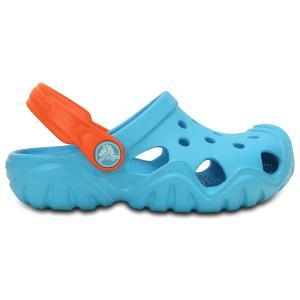 Сабо Kids Swiftwater Clog CROCS. Цвет: синий/ оранжевый
