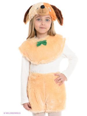 Карнавальный костюм Собачка Волшебный мир. Цвет: бежевый, коричневый