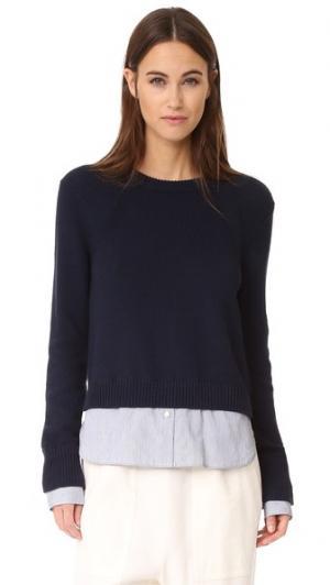 Многослойный пуловер Anton Brochu Walker. Цвет: чернильный/в тонкую полоску