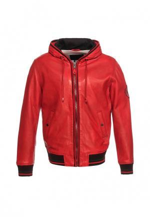Куртка Московская меховая компания. Цвет: красный