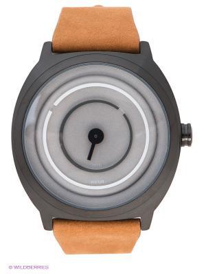 Часы TACS. Цвет: коричневый, серый, черный