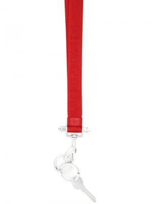 Брелок с принтом логотипа Givenchy. Цвет: красный