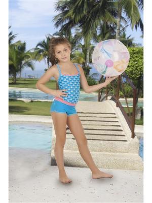 Детский купальник Dea Fiori. Цвет: голубой