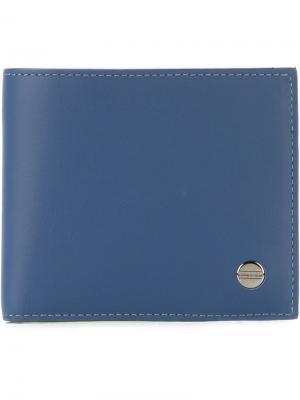 Двухцветный кошелек Borbonese. Цвет: синий