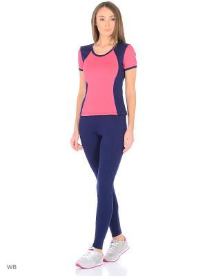 Спортивный костюм FORLIFE. Цвет: темно-синий, розовый