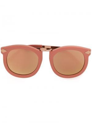 Солнцезащитные очки Super Lunar Karen Walker Eyewear. Цвет: розовый и фиолетовый