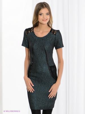 Платье FRENCH HINT. Цвет: темно-зеленый