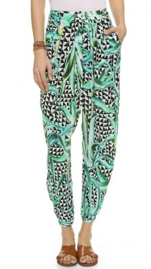 Драпированные брюки Mara Hoffman. Цвет: зеленое алоэ