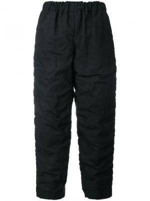 Укороченные брюки со сборками Comme Des Garçons. Цвет: синий