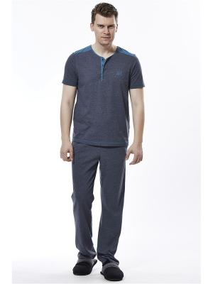 Пижама с брюками RELAX MODE. Цвет: темно-серый