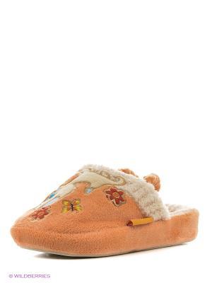 Тапочки детские Dream Feet. Цвет: оранжевый