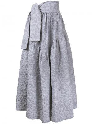 Фактурная юбка Jourden. Цвет: серый