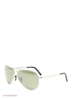 Солнцезащитные очки Porsche Design. Цвет: серебристый, темно-зеленый