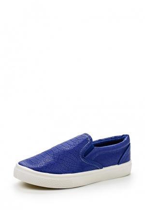 Слипоны WS Shoes. Цвет: синий