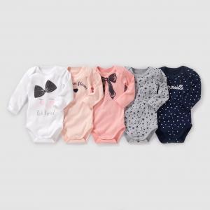 Комплект из 5 боди с длинными рукавами на возраст от 0 месяцев до 3 лет R édition. Цвет: рисунок разноцветный