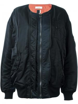 Long length bomber jacket Facetasm. Цвет: чёрный