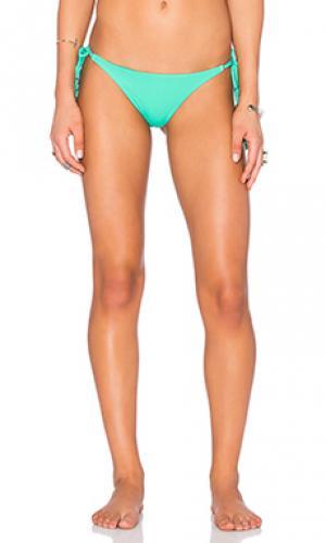 Низ бикини side Vix Swimwear. Цвет: зеленый