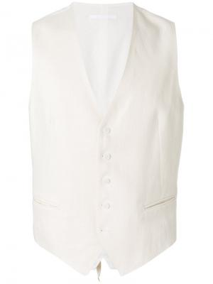 Classic waistcoat Tagliatore. Цвет: телесный