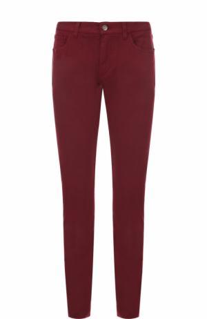 Джинсы прямого кроя из эластичного хлопка Dolce & Gabbana. Цвет: бордовый