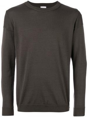 Классический трикотажный свитер S.N.S. Herning. Цвет: коричневый