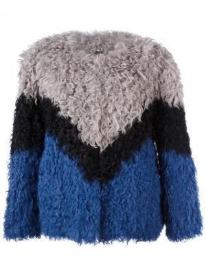 Трехцветная куртка Ravn. Цвет: серый