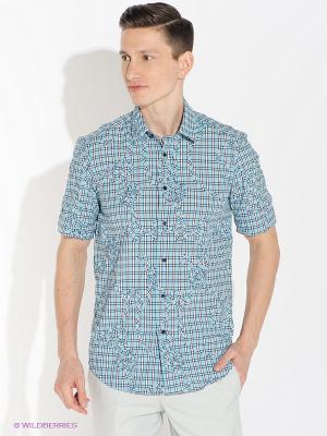 Рубашка Absolutex. Цвет: голубой