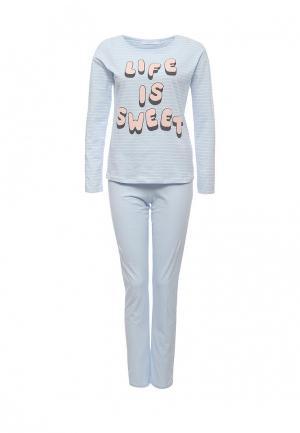Пижама womensecret women'secret. Цвет: голубой