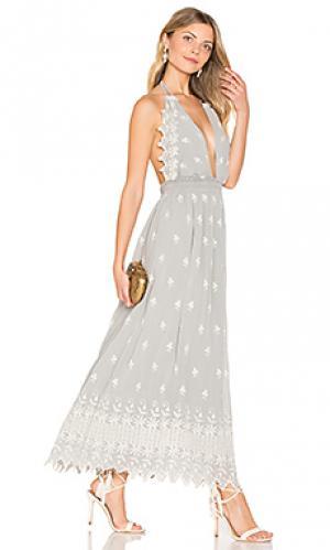 Платье isabel LoveShackFancy. Цвет: серый