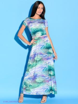 Платье Colambetta. Цвет: зеленый, сиреневый, синий, голубой