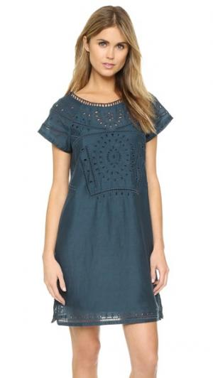 Платье с вышивкой Twelfth St. by Cynthia Vincent. Цвет: нефть