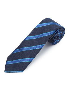 Галстук Regiment Stripe Wool Goya Duchamp. Цвет: темно-синий, голубой, лазурный