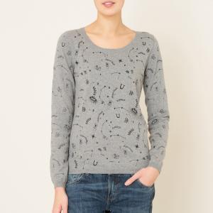 Пуловер с рисунком MAISON SCOTCH. Цвет: серый