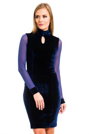 Платье MONDIGO. Цвет: темно-синий