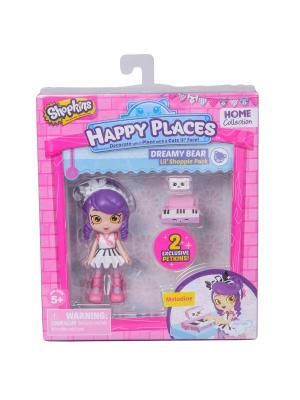 Набор фигурок Happy Places Петкинс с куклой Shoppie Мелодина Moose. Цвет: розовый